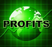 Profits Graph Shows Earn Investment And Diagram Royalty Free Stock Photography