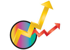 Profits and loss arrows Royalty Free Stock Images