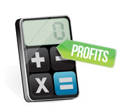 Profits and modern calculator Royalty Free Stock Images