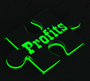 Profits Puzzle Showing Monetary Incomes Royalty Free Stock Image