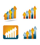 Profits Report graph Stock Image