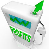 Profits Rising - Growth Arrow on Gas Pump Royalty Free Stock Image
