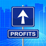 Profits Sign Indicates Investment Earnings And Earn Royalty Free Stock Images