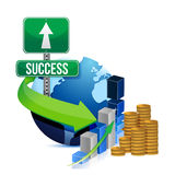 Profits success globe Royalty Free Stock Image