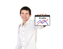 Profits in table Stock Images