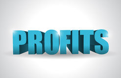 Profits text illustration design over Stock Photo