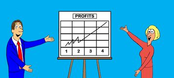 Profits are Up Royalty Free Stock Photography