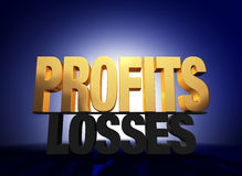 Profits Vanquish Losses Royalty Free Stock Image