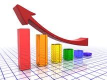 Profitti aumentanti illustrazione di stock
