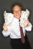 Profitti di rappresentazione dell'uomo d'affari Immagini Stock