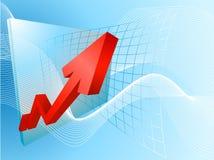 Profitti saettanti in alto Immagine Stock