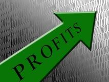 Profitti verdi della freccia Fotografia Stock Libera da Diritti