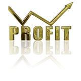 Profitto e freccia Fotografie Stock Libere da Diritti