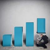 Profitto finanziario attrezzato rappresentazione 3d Immagine Stock