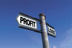 Profitto o perdita Fotografia Stock Libera da Diritti