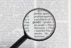 Profitwort im Verzeichnis Lizenzfreie Stockfotografie