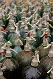 Profondément des bouteilles de siphon de zone Images libres de droits