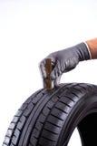 Profondeur des rainures de pneu Photos libres de droits