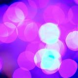 Profondeur du champ des lumières de Noël de fête Image stock