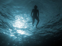 In profondità 111 blu Fotografie Stock