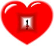 Profondo all'interno del cuore Immagine Stock Libera da Diritti