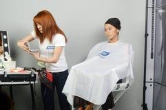 Profumeria internazionale di Intercharm Autumn Moscow XXI e mostra dei cosmetici durante la manifestazione Fotografia Stock Libera da Diritti