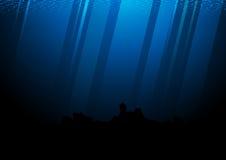 Profundamente del ejemplo del vector del Océano Pacífico libre illustration