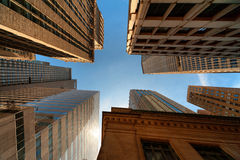 Profundamente dentro do calibre de New York City foto de stock