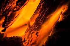 Profundamente en el fuego Imágenes de archivo libres de regalías