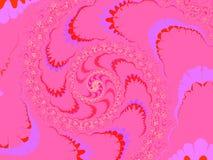 Profundamente - Fractal moderno cor-de-rosa 2d do estilo ilustração stock