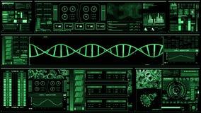 Profundamente - relação futurista verde/Digitas screen/HUD ilustração stock
