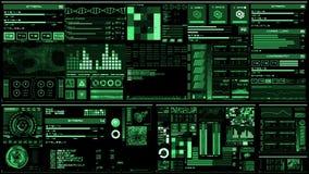 Profundamente - relação futurista verde/Digitas screen/HUD ilustração royalty free