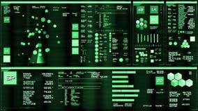 Profundamente - relação futurista verde/Digitas screen/HUD ilustração do vetor