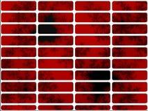 Profundamente - teclas vermelhas de Nav do Web site do Fractal ilustração do vetor