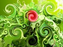 Profundamente - verde Imagens de Stock Royalty Free