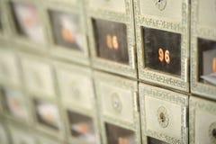 Profundidad baja de la vista de una PO BOX Fotos de archivo