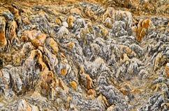 Profundidad baja del modelo natural de la piedra del campo fotografía de archivo libre de regalías