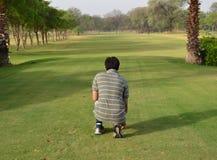Profundidad del golf del campo Imágenes de archivo libres de regalías