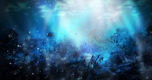 A profundidade da água do mar, o worldDepth subaquático da água do mar, a parte inferior do mar foto de stock royalty free
