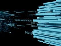 A profundidade da ilustração de transferência de dados de campo conceptual grande 3d rende Imagens de Stock