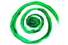 Profundo abstrato - o verde roda, misturou cores da pintura fotografia de stock royalty free
