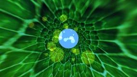 Profundo bajo el agua acuático de la fantasía ilustración del vector