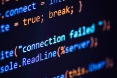 Progamming κωδικός πηγής συνελεύσεων Στοκ εικόνες με δικαίωμα ελεύθερης χρήσης