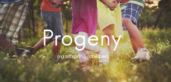 Progeny Children Generation Juvenile Young Kids Concept Stock Photo