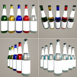 Progettare-Bottiglie impaccanti Fotografia Stock Libera da Diritti
