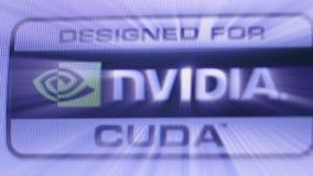 Progettato per l'unità di elaborazione di Nvidia Cuda GPU come visto sui calcolatori Apple iMac video d archivio