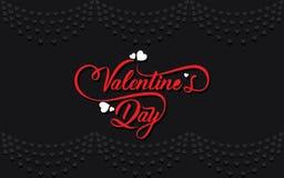 Progettazione accogliente felice di giorno di biglietti di S. Valentino royalty illustrazione gratis