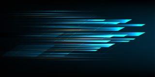 Progettazione ad alta velocità del movimento Ciao-tecnologia Priorità bassa astratta di tecnologia Illustrazione di vettore Immagine Stock Libera da Diritti