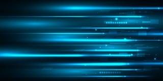 Progettazione ad alta velocità del movimento Ciao-tecnologia Priorità bassa astratta di tecnologia Illustrazione di vettore Immagini Stock
