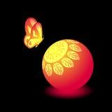 Progettazione al neon della farfalla Immagini Stock